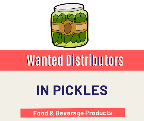 Wanted Distributors for Pickles in India