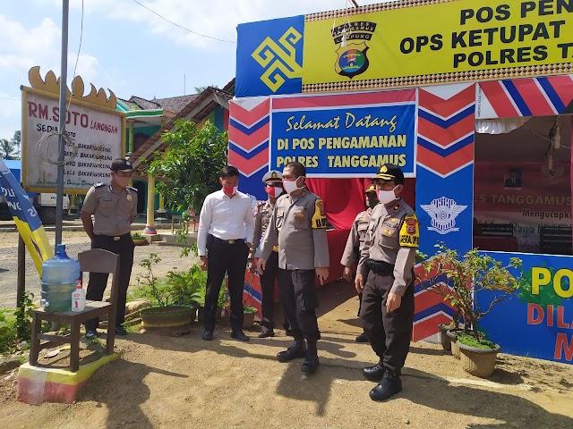 Awali Hari Pertamanya di Polres Tanggamus, Kapolres AKBP Oni Prasetya Langsung Periksa Pos Pam