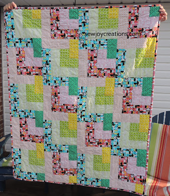 Dropping In quilt Good Vibes Fabric Sew Joy Sew Along
