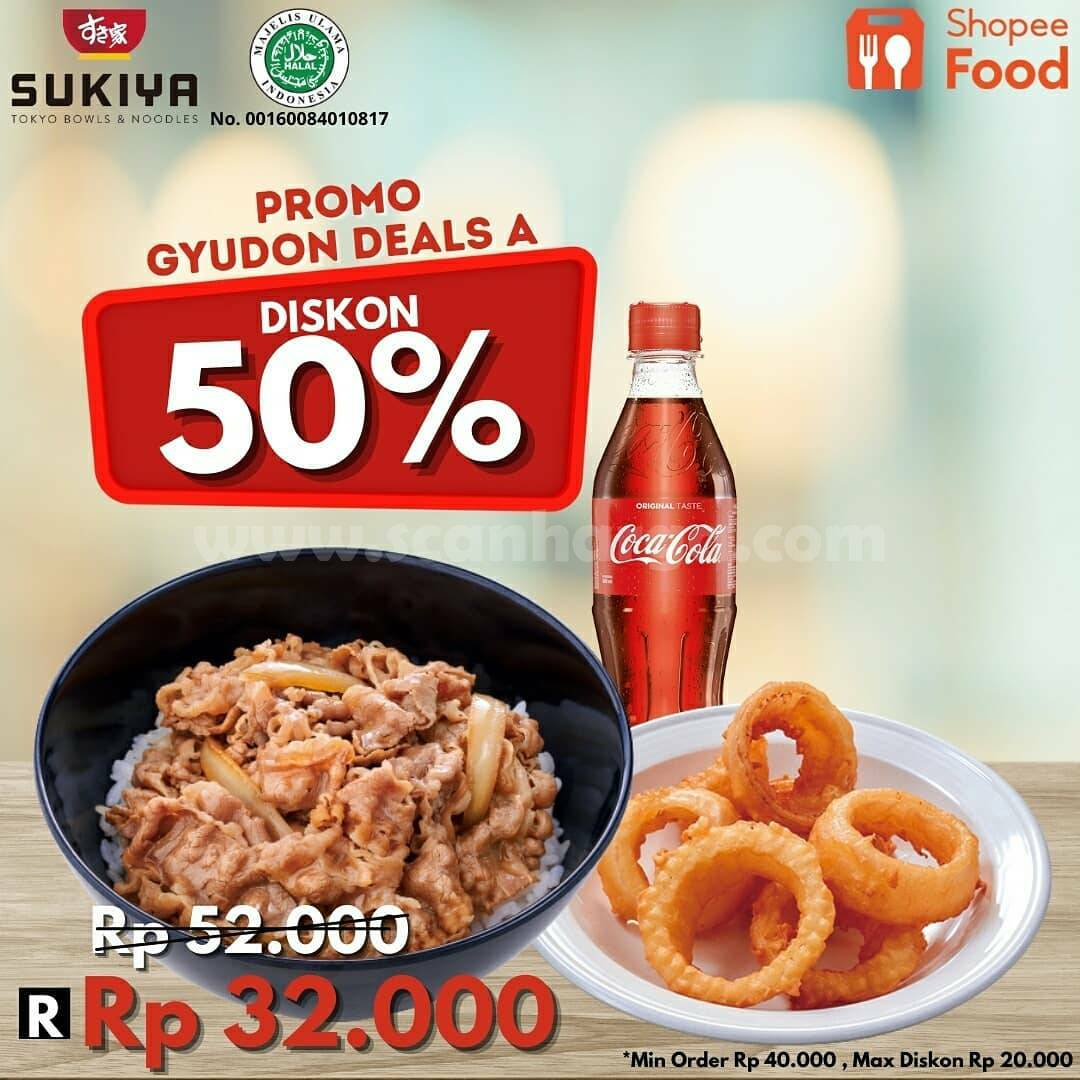 Promo SUKIYA GYUDON DEALS DISKON hingga 50% via ShopeeFood 2