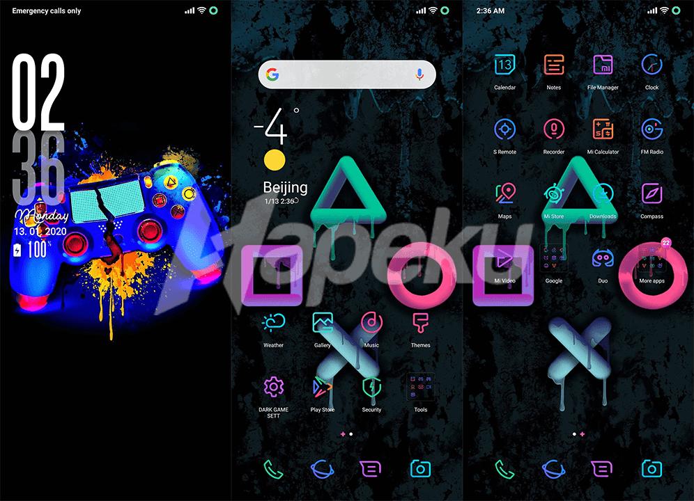 Screenshot Theme Black Game V11