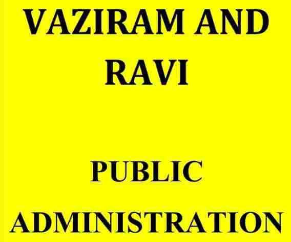 Vajiram Ravi Public Administration Notes 2020 PDF