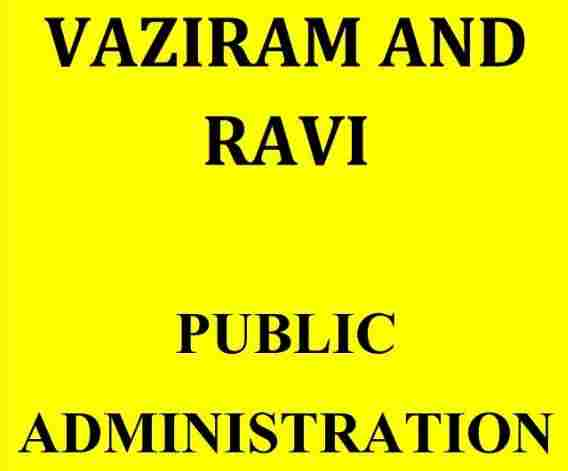 Vajiram and Ravi Public Administration Notes 2020 PDF