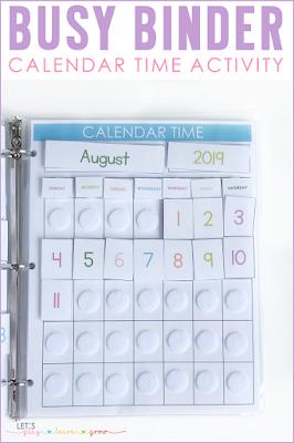 Busy Binder Calendar