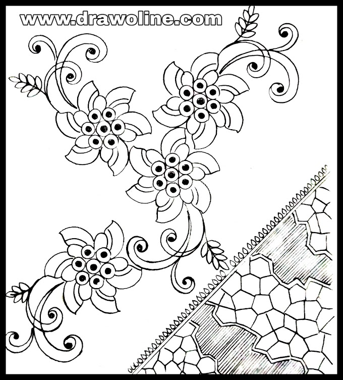 How to draw an easy hand embroidery designs/embroidery design pic free download 2020