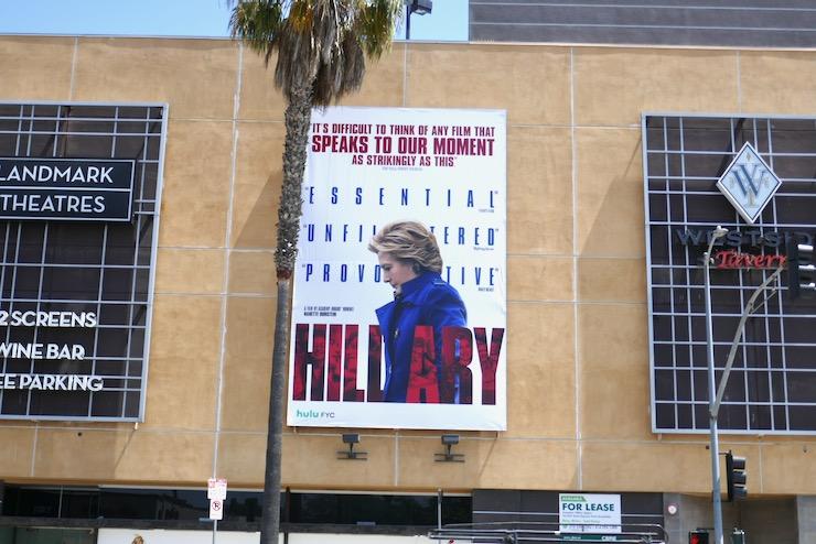 Hillary Hulu Emmy FYC billboard