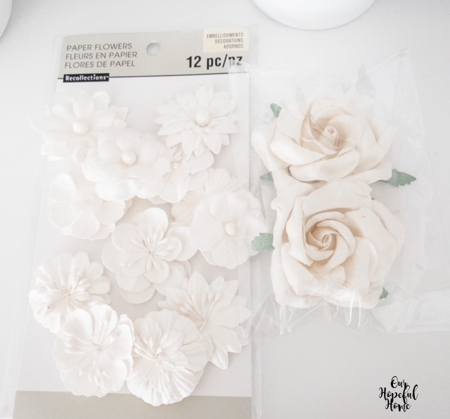 Michael's Recollections paper flowers