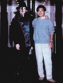 Yu Suzuki with Michael Jackson
