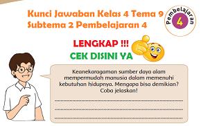 Kunci Jawaban Kelas 4 Tema 9 Subtema 2 Pembelajaran 4 www.simplenews.me