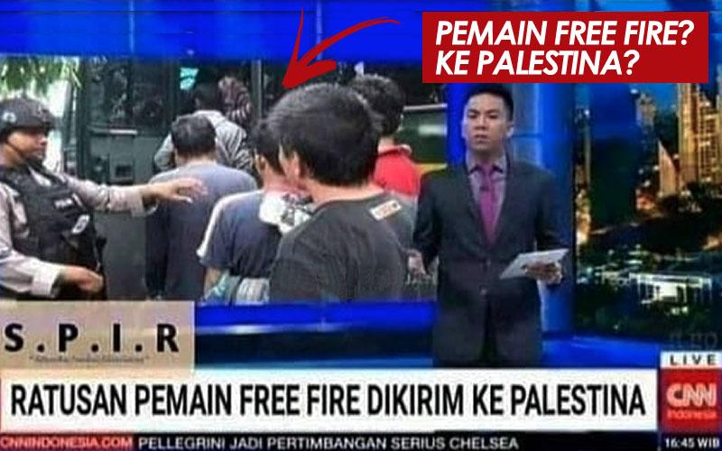 ratusan pemain Free Fire dikirim ke Palestina