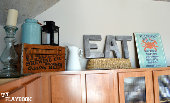 EAT Anthropologie inspired letters