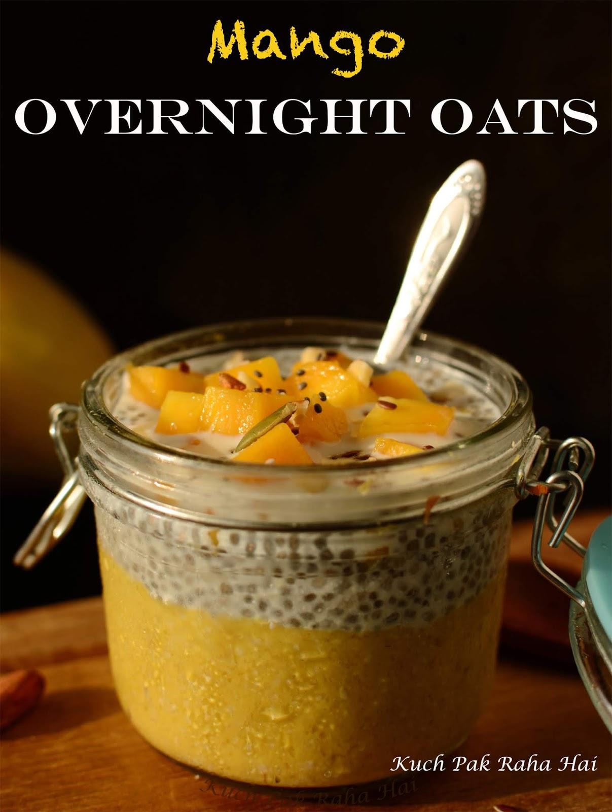 Mango Overnight Oats Chia Seeds Pudding