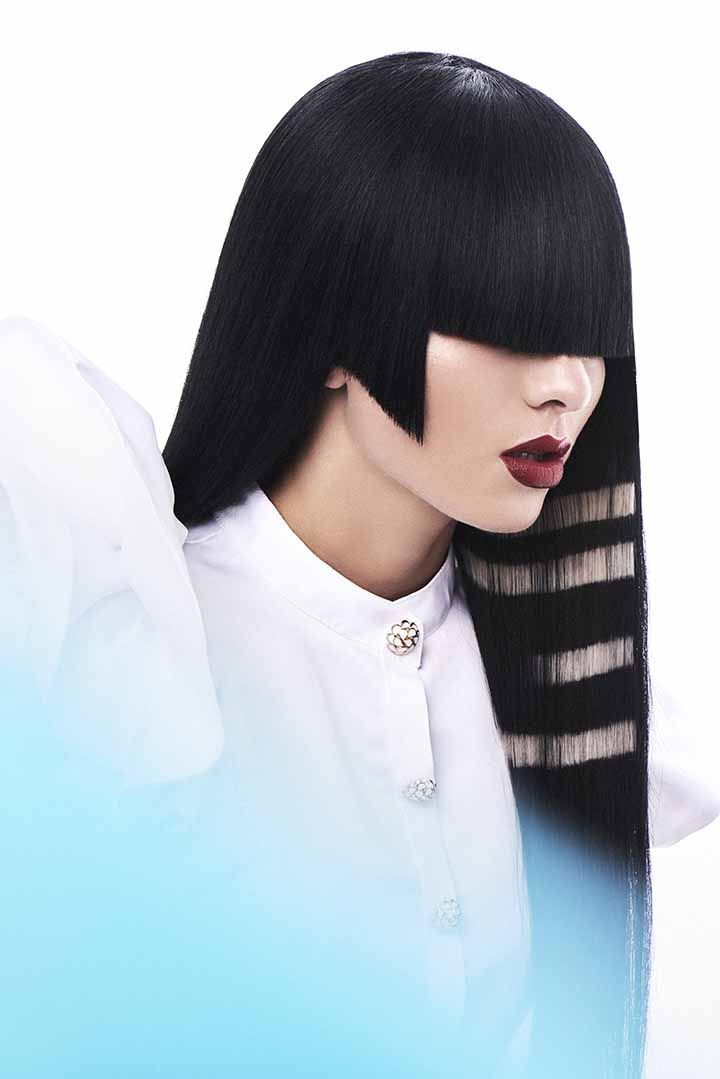 color de pelo negro con stencil 2020