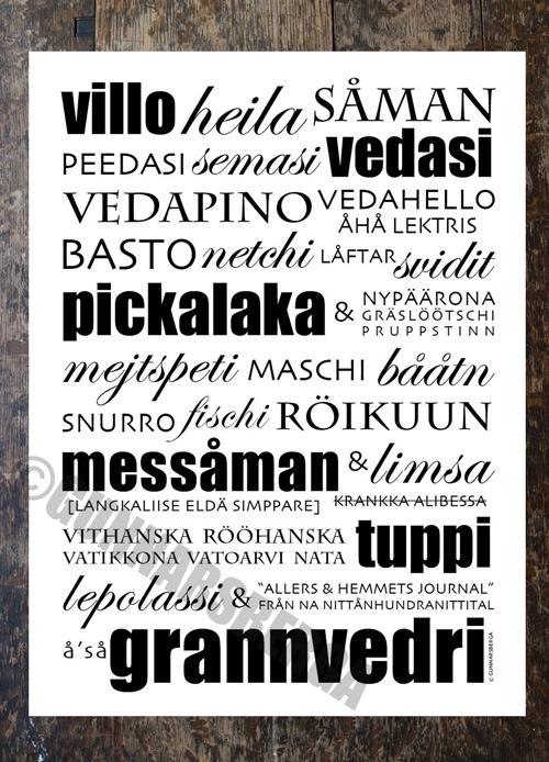 dialektposter affisch plansch dialekttavla dialekt gunnarsberga
