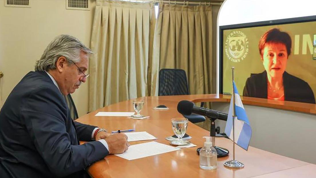 Fernández dialoga con la titular del FMI y avanza renegociación de la deuda argentina