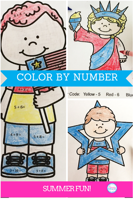 Color by Number Addition and Subtraction | Summer Fun!