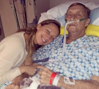 Picture of Anna Konkle with her father who passed away