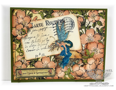 CraftyColonel Donna Nuce for Cards in Envy Challenge blog, Graphic 45 Once Upon a Springtime