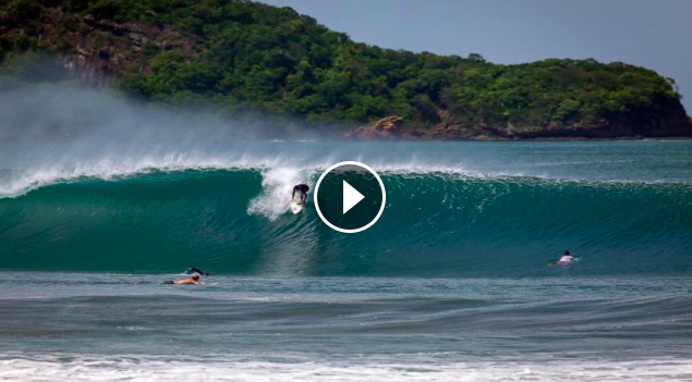 Manny Resano surfing Nicaragua South swells 2020