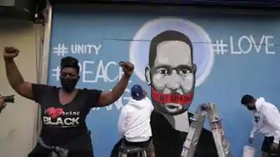 George Floyd tragic death, protesters, Justice for Floyd, arrest four officer -MergeZone