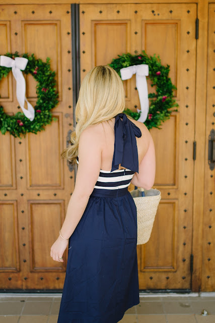 Nautical Navy Dress
