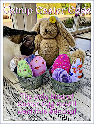 Crafting With Cats Easter Special ©BionicBasil® Catnip Easter Eggs with Blossom and Melvyn #1