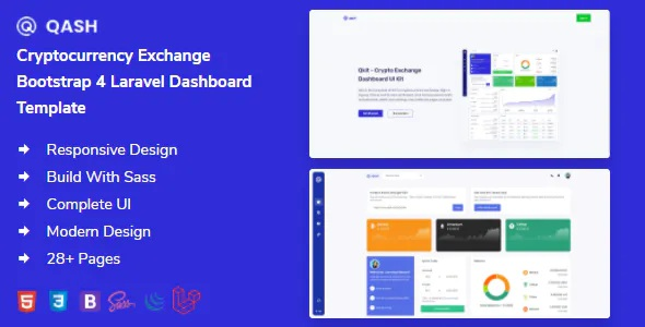 Best Cryptocurrency Exchange Bootstrap Laravel Dashboard Template