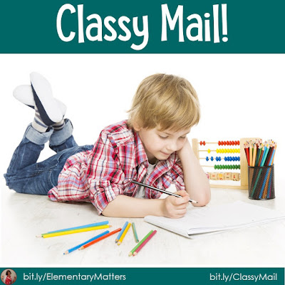Classy Mail.  This is a tried and true writing activity that can be used over and over again, and it's great for the sub tub! (There's a freebie!)