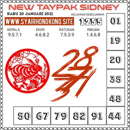 Prediksi New Taypak Sydney Rabu 20 Januari 2021