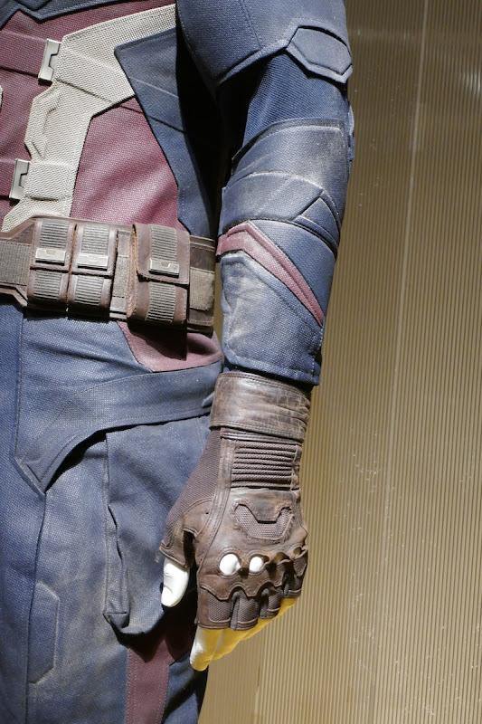 Captain America costume detail Avengers Endgame