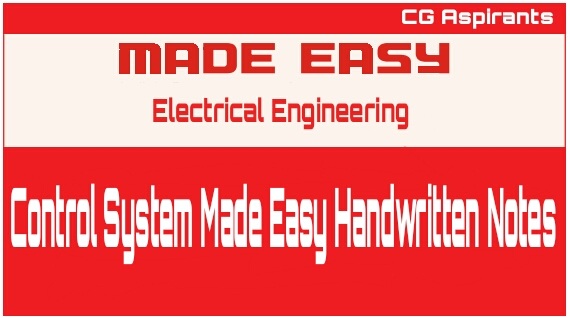 Control System Made Easy Handwritten Notes