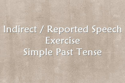 Soal Indirect Speech Simple Past Tense