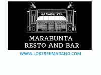 Loker Semarang Mei 2021 di Marabunta Resto and Bar