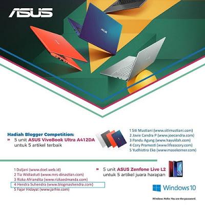 Lomba Blog ASUS VivoBook Ultra A412DA