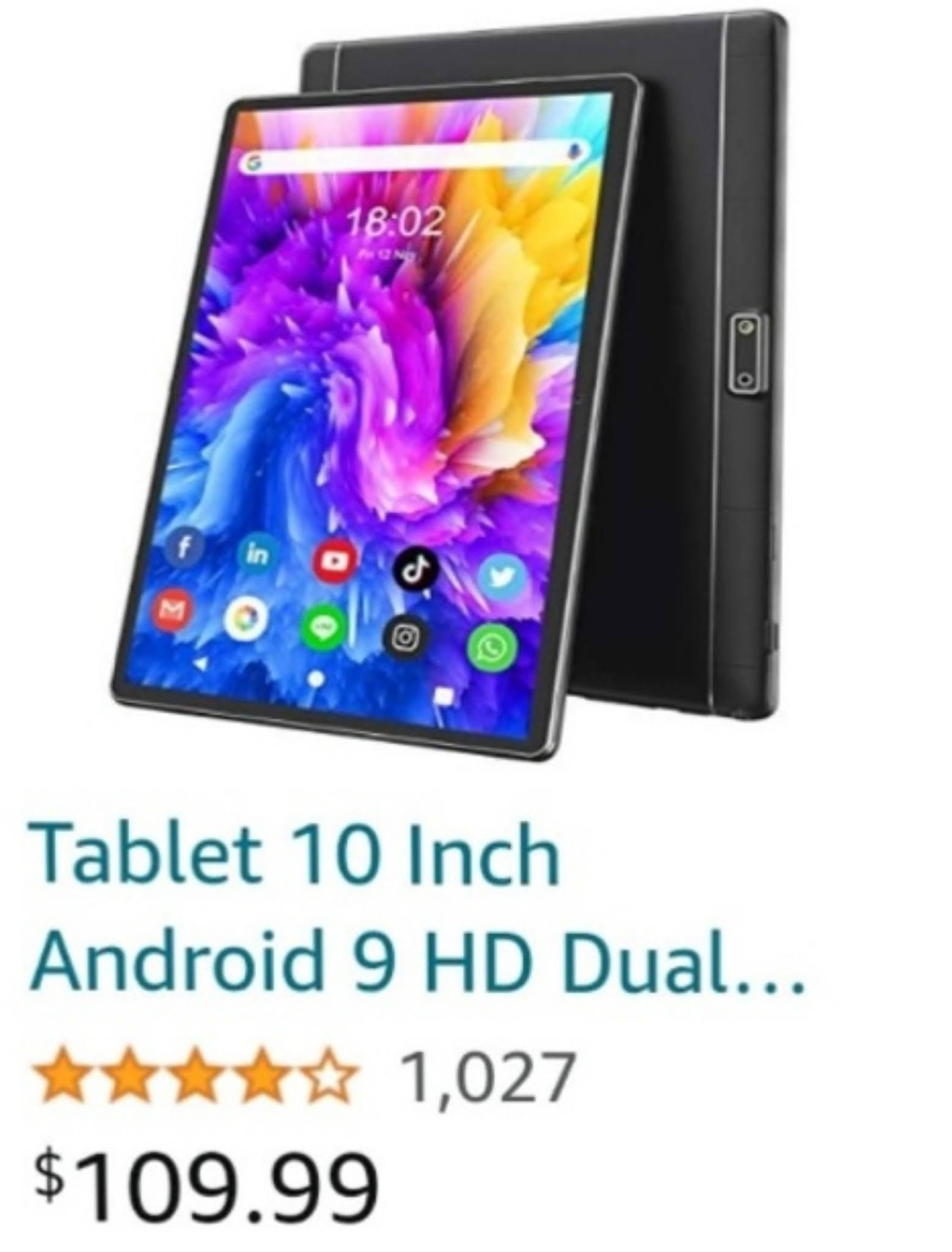 AOGE Tablet 10 inch android 9 hd dual