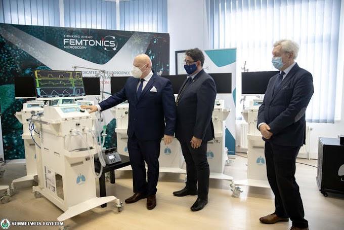 Magyar fejlesztésű lélegeztetőgépeket kapott a Semmelweis Egyetem