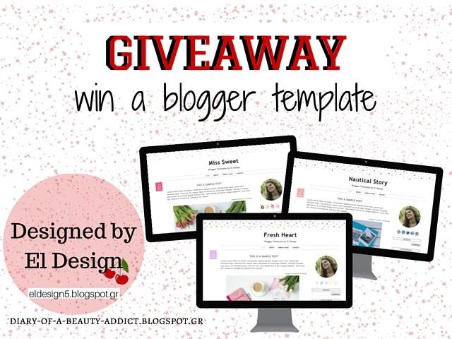 Κέρδισε ένα μοντέρνο blogger template από το El Design