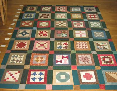 Cheri Payne's Everyday Patchwork sampler quilt