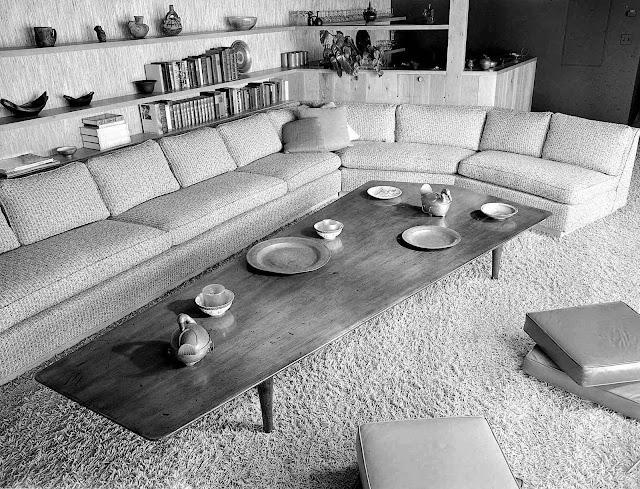 Welton Becket interior furniture design, a photograph
