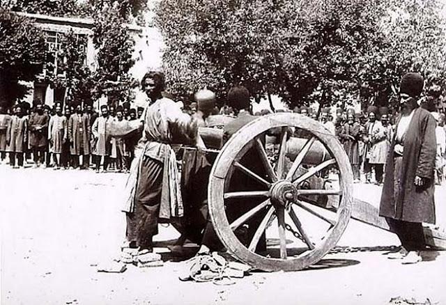 Execution by cannon, Shiraz, Iran. 1890s.