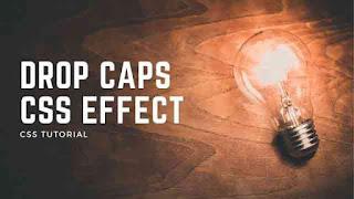 CSS Drop Cap Effects