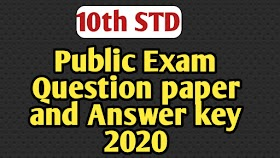 10TH PUBLIC EXAM QUESTION PAPER WITH ANSWER KEY 2020