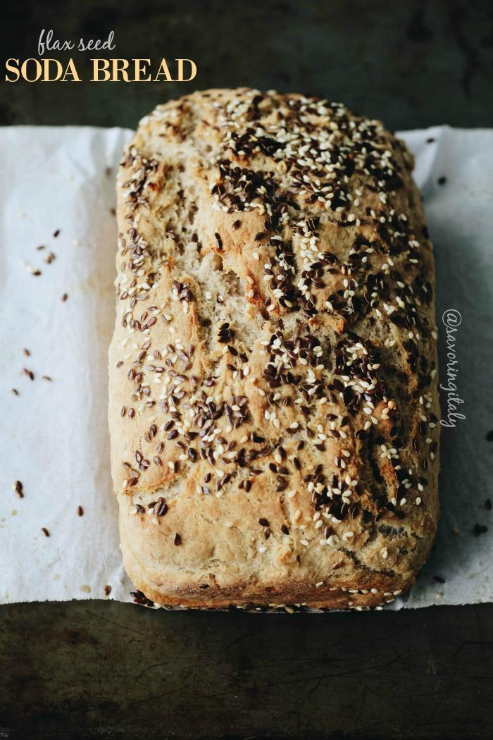 Gluten-Free Flax Seed Soda Bread-Soda Bread con Semi di Lino