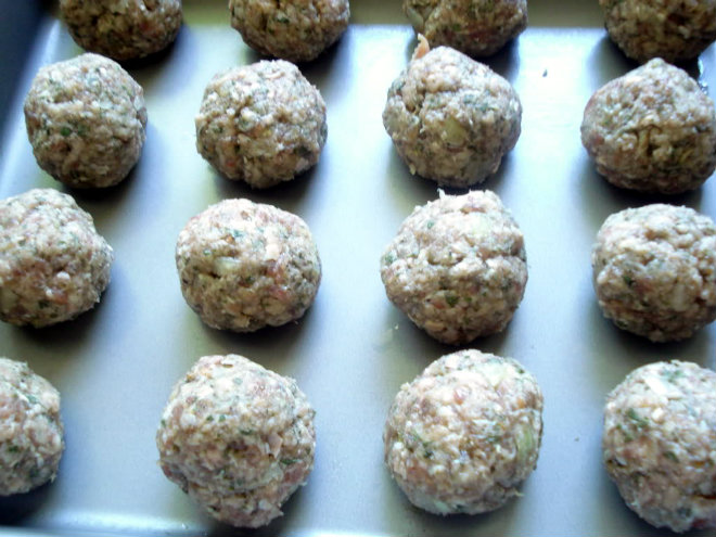 form walnut-sized meatballs
