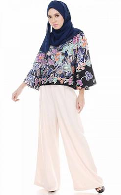 baju batik muslim terkini