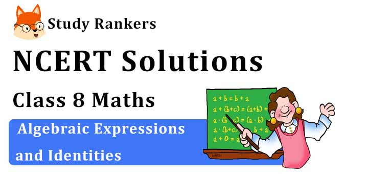 NCERT Solutions for Class 8 Maths Chapter 9 Algebraic Expressions and Identities