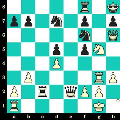 Les Blancs jouent et matent en 2 coups - Leonid Shamkovich vs Anatoly Trubman, USA, 1990