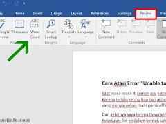 Cara Menghitung Jumlah Kata di Microsoft Word