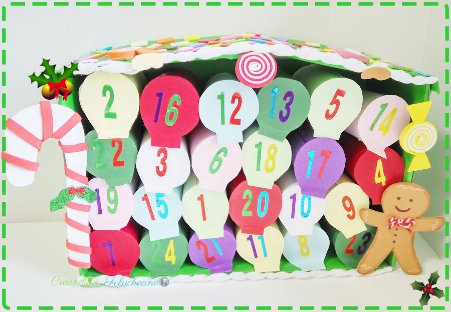 como-hacer-un-calendario-de-adviento-reciclando-tubos-de-cartón-creandoyfofucheando