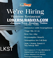 We Are Hiring at Fish Monger & Resto 4 Cafe Surabaya Juni 2020